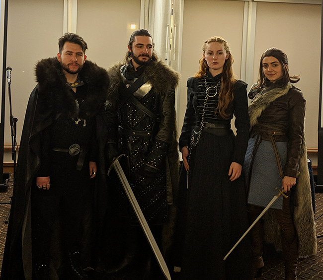 Cosplayers at an event regarding Game of Thrones in March