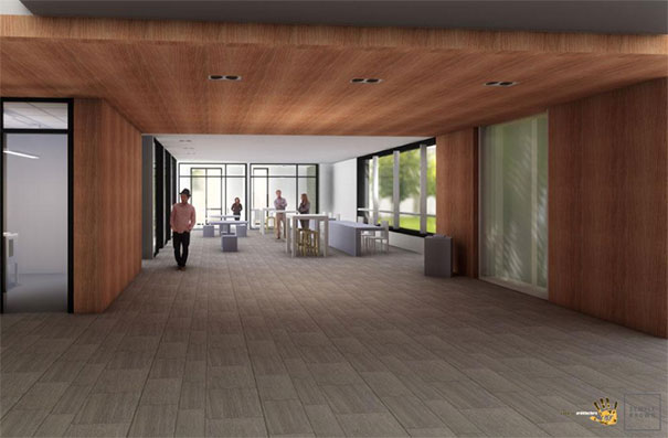 artist depiction of new integrated student services center