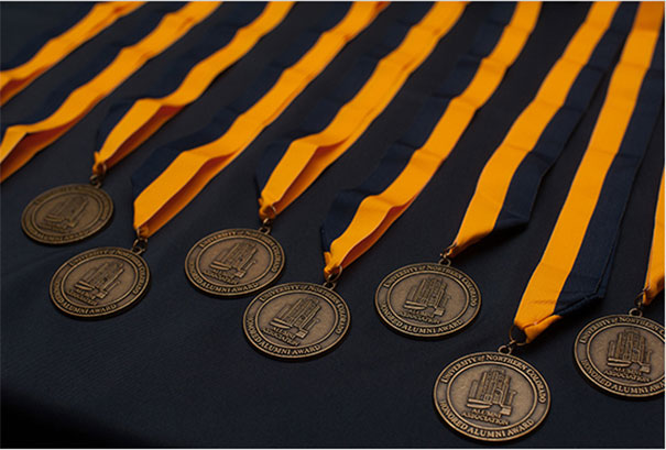 Honored alumni medals