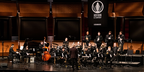 UNC band competing at Jack Rubin jazz competition in New York