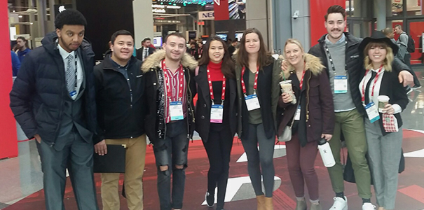 The eight students who attended the NRF conference in January 2019.