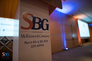 SBG logo at the event