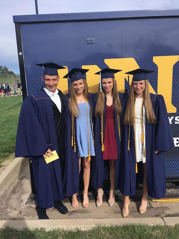 Siblings 2018 graduation