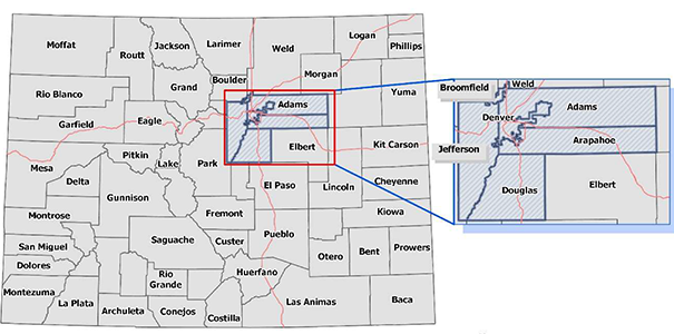 A look at certain counties in Colorado regarding COVID-19 earlier this year