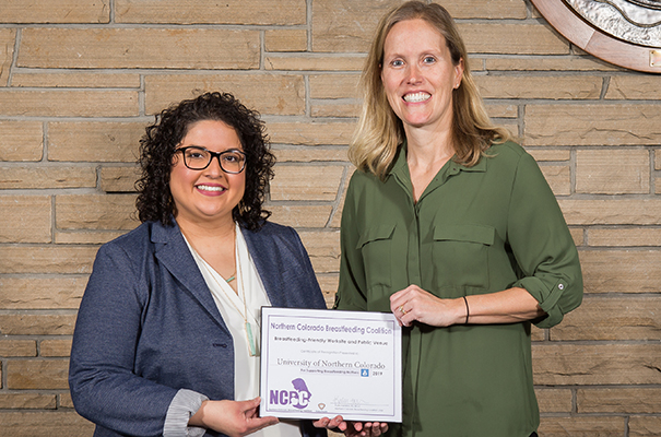 UNC was recognized as being a breastfeeding-friendly public venue from the Weld County Public Health Department on Friday, Jan. 11.
