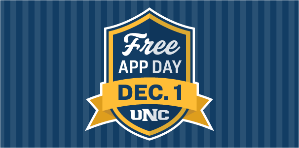 UNC's First Free App Day logo