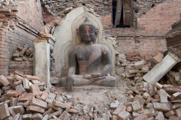 Nepal damage from earthquake