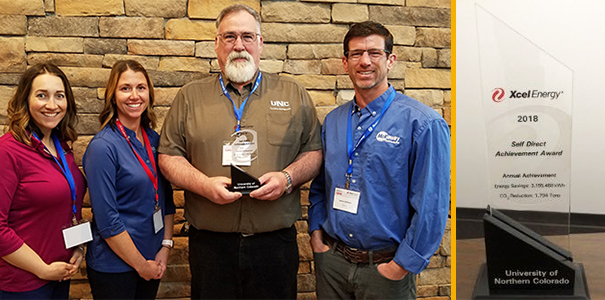 Xcel Energy recognized UNC's conservation efforts.