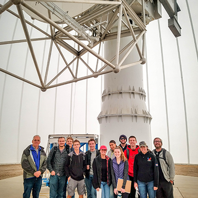 Meteorology students visit the CSU-CHILL research radar