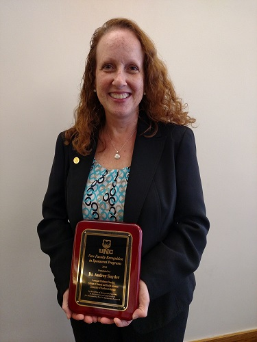 new faculty recognition - audrey snyder