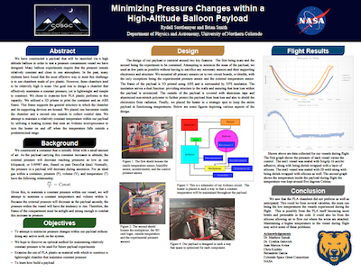 UNC Physics Minimizing Pressure Changes Poster