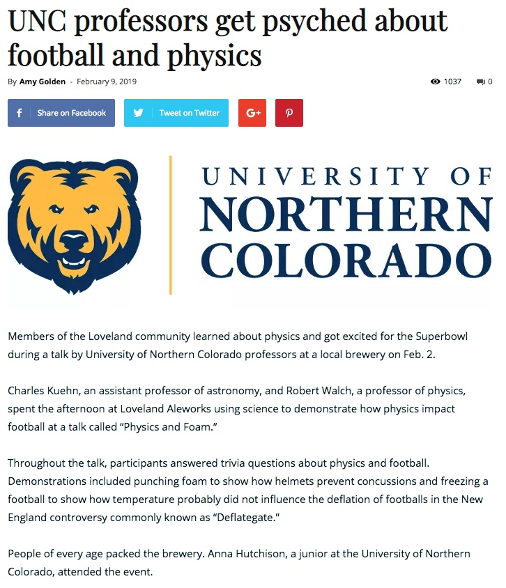 UNC Mirror Physics Article