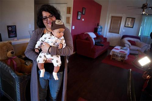Gena Duran with her baby