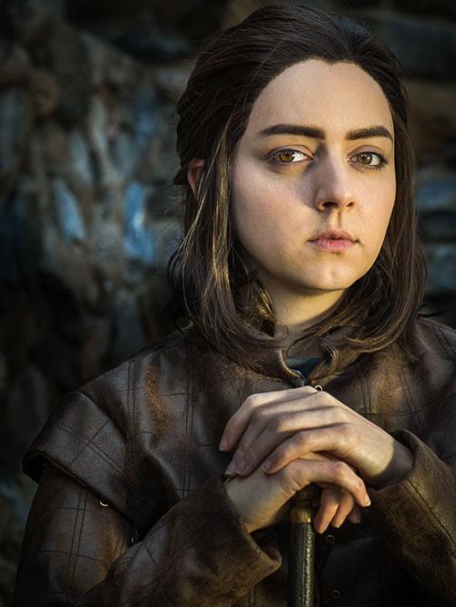 Ginny dressed as Arya Stark