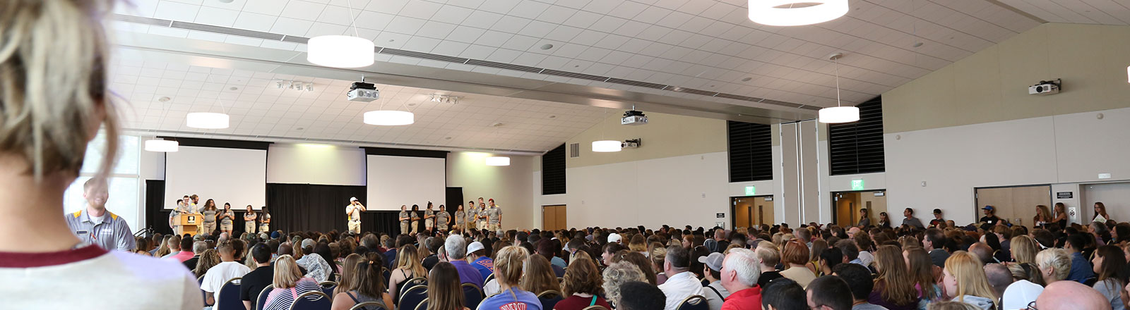 Welcome session at the beginning of a First-Year Orientation