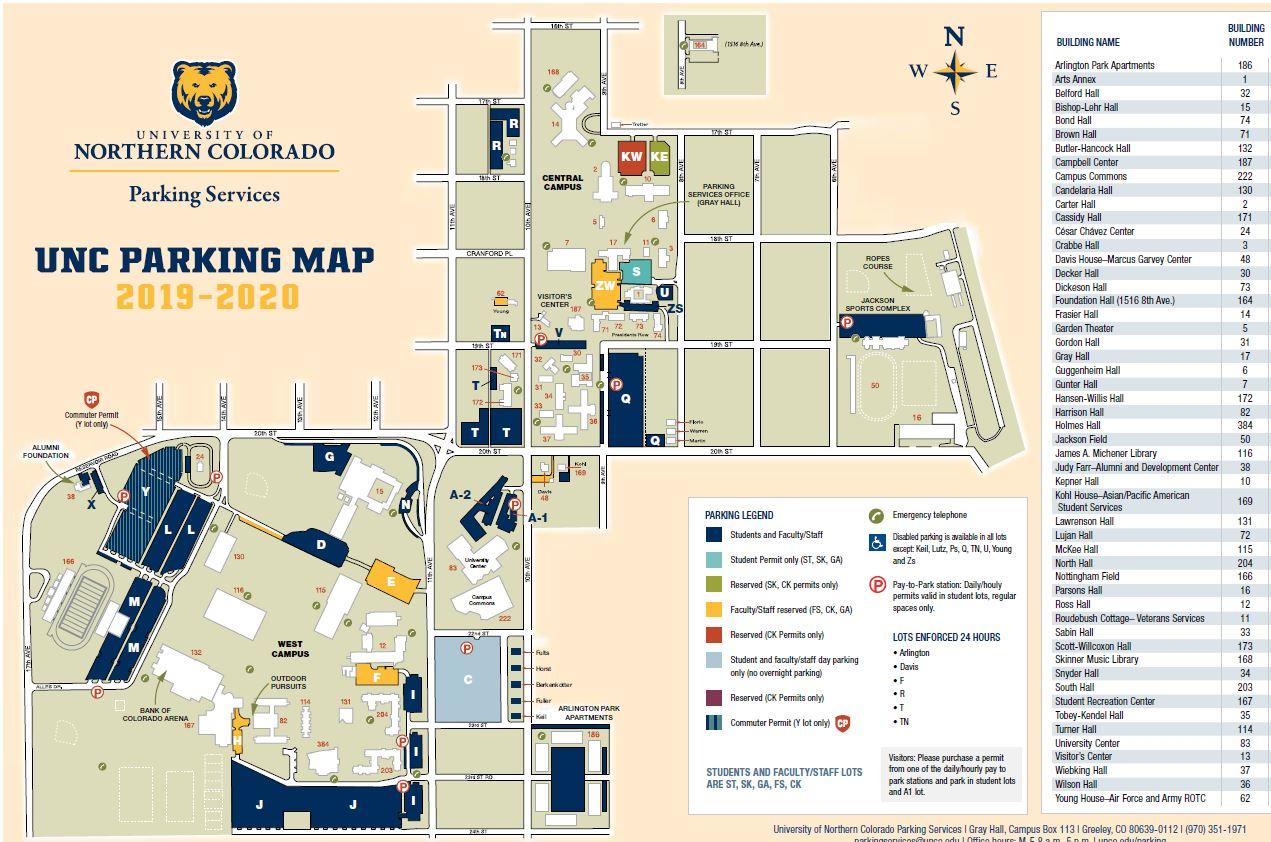 university of northern colorado campus map Unc Extended Campus University Of Northern Colorado Induced Info university of northern colorado campus map