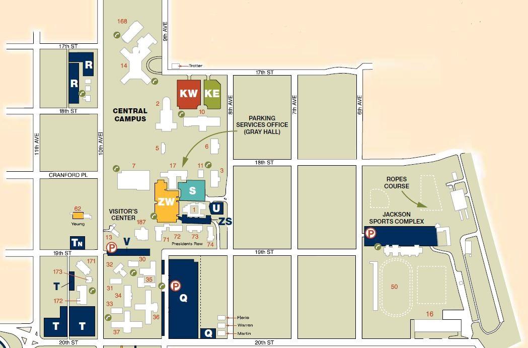 university of northern colorado campus map Central Campus Map university of northern colorado campus map