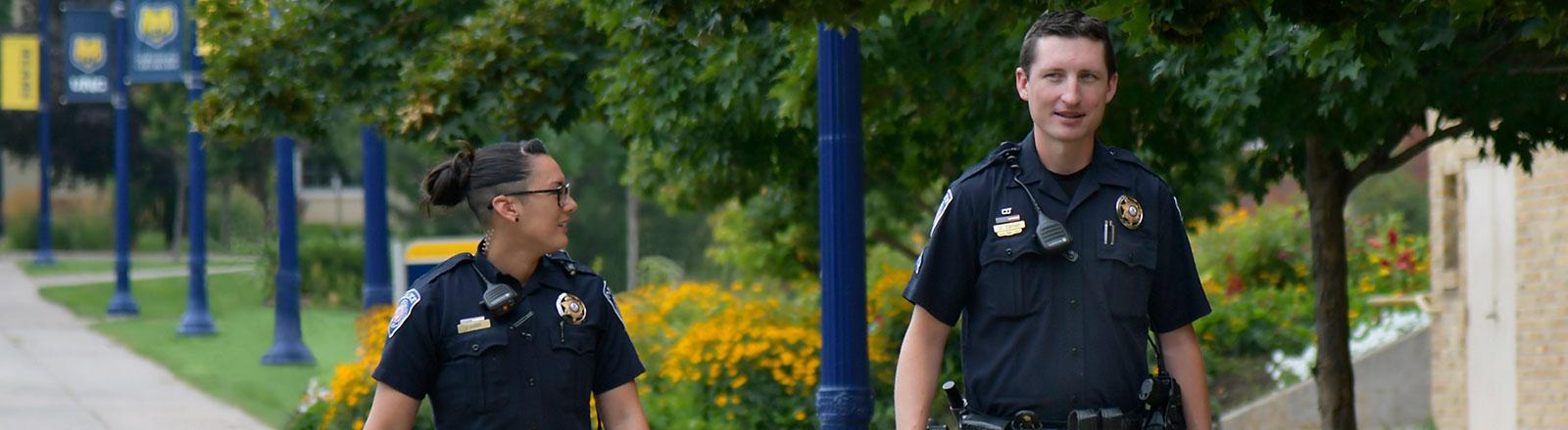UNC Police Officers on foot patrol