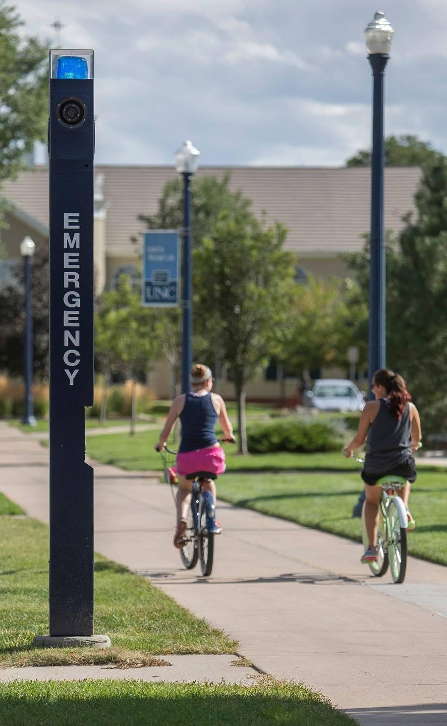 campus emergency pole