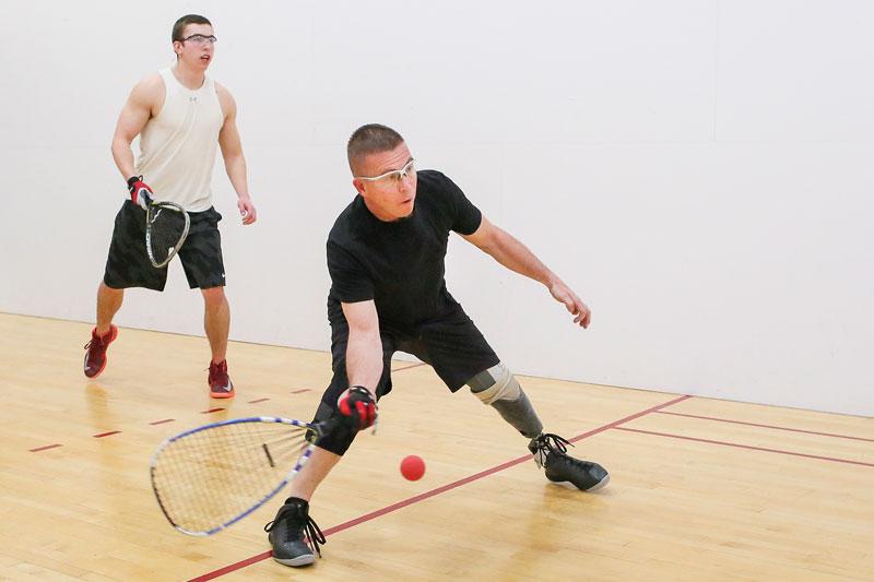 Kenny Jackson playing racquetball