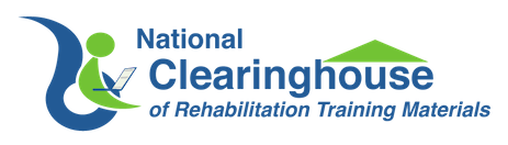 National Clearinghouse of Rehabilitation Training Materials logo