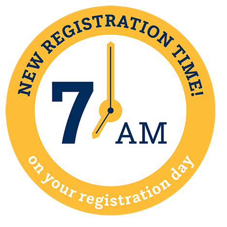 Registration opens at 7 a.m. on your date to register