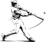 Illustration of a baseball player at bat
