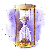 Illustration of a sand timer