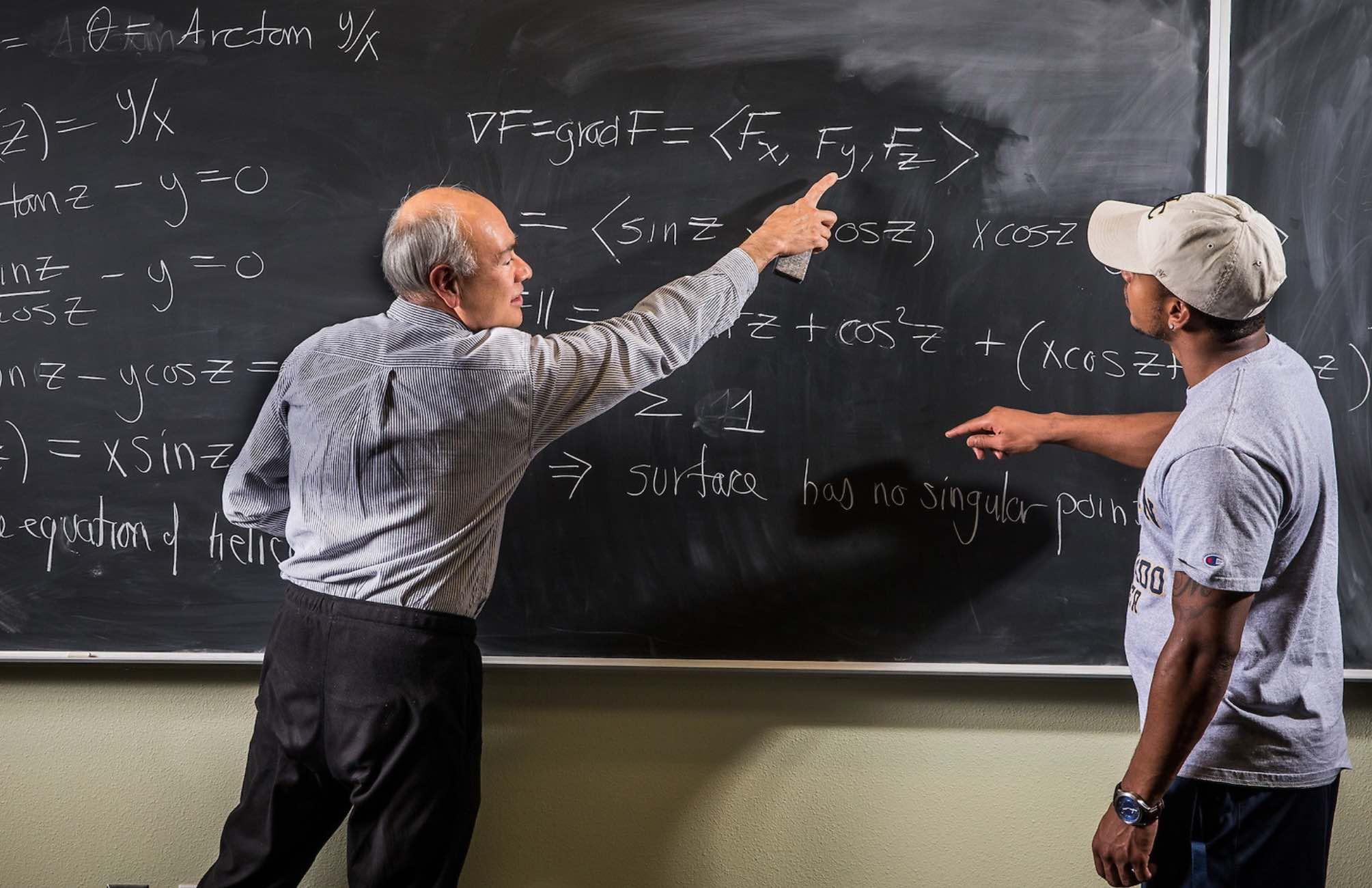 Mathematics chalkboard