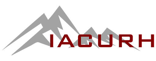 IACURH logo maroon text with gray mountains