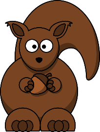 Image of a squirrel holding an acorn