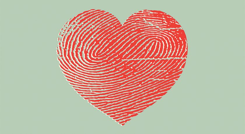 Heart in thumbprint