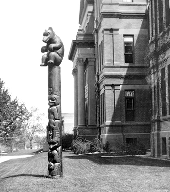 Totem Teddy outside Cranford