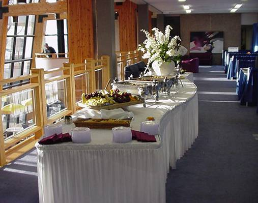 Buffet Table at a Catered Event