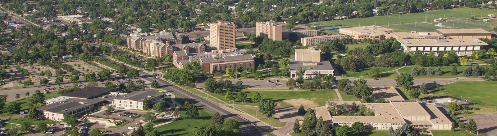 UNC campus view