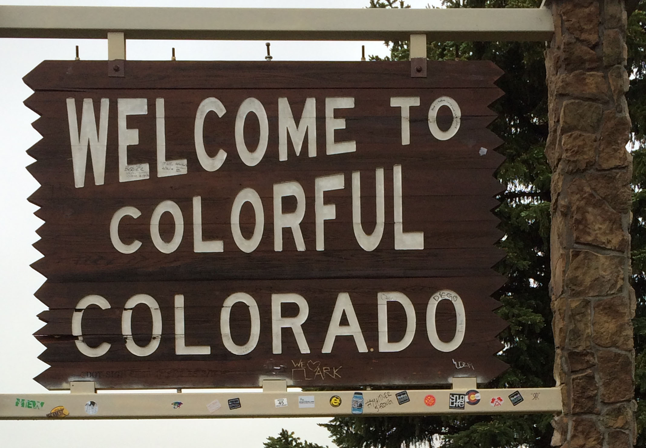 Picture of the Welcome to Colorful Colorado sign