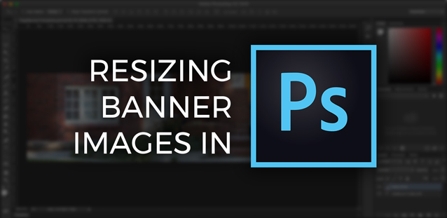 Photoshop screenshot with post title over