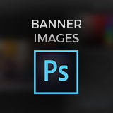 Photoshop logo on blurred background of Photoshop window